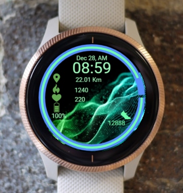 Garmin Watch Face - Wave In Infinity 1