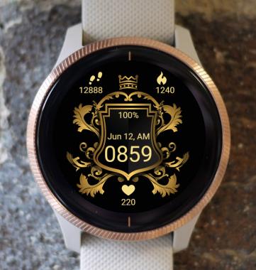 Garmin Watch Face - Golden shield