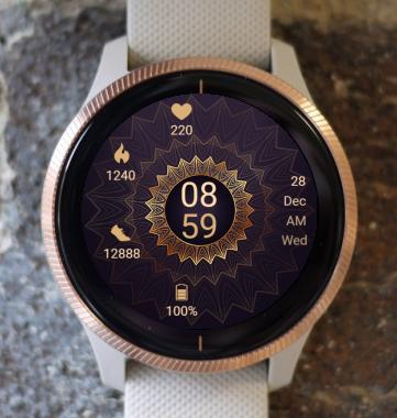 Garmin Watch Face - Mandala G1