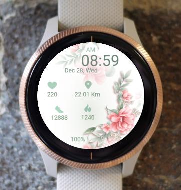 Garmin Watch Face - Rose Bouquet
