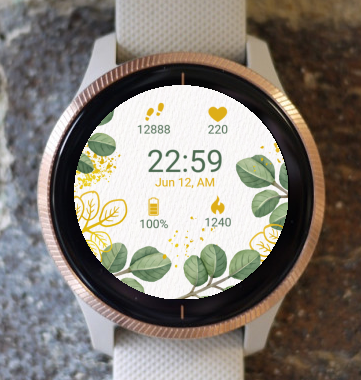 Garmin Watch Face - Fall Flowers G