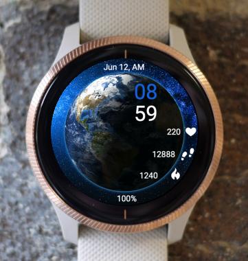 Garmin Watch Face - Earth