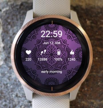 Garmin Watch Face - Purple Life