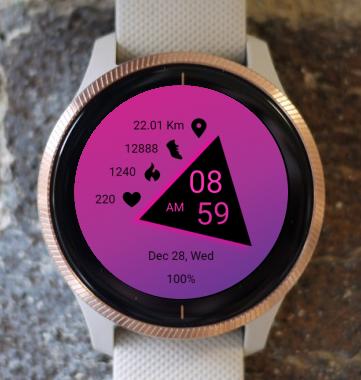 Garmin Watch Face - Pink Triangle
