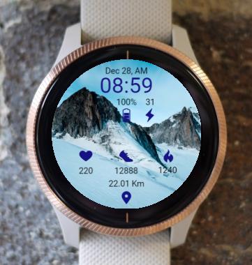Garmin Watch Face - Snow And Mountain