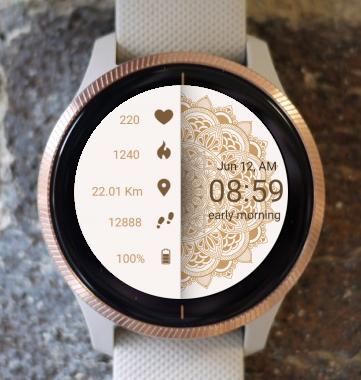 Garmin Watch Face - Mandala C8