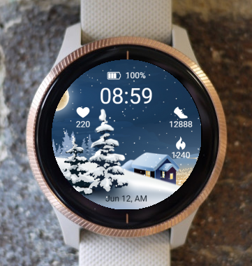Garmin Watch Face - Christmas landscape