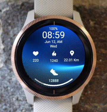 Garmin Watch Face - Blue Wave