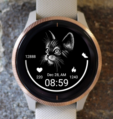 Garmin Watch Face - Black Cat 2
