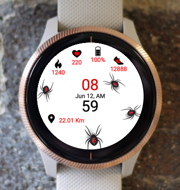 Garmin Watch Face - Spiders