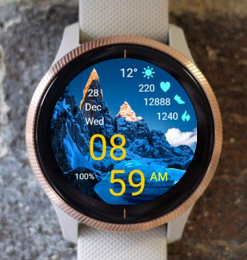 Garmin Watch Face - Mountain - Alps
