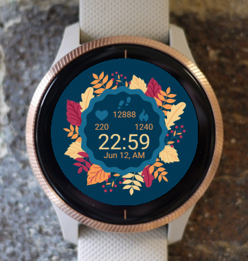 Garmin Watch Face - Autumn Leaves G