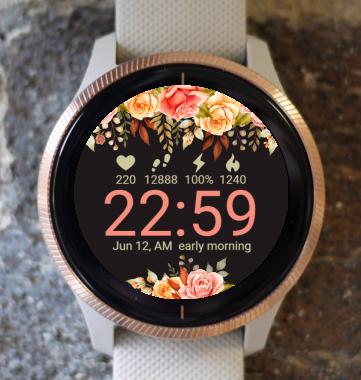Garmin Watch Face - Romantic Flowers G