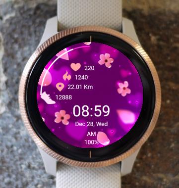 Garmin Watch Face - Flower Rain