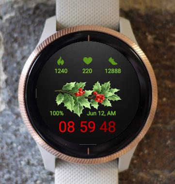 Garmin Watch Face - Winter Leaf
