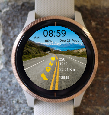 Garmin Watch Face - On The Road 01