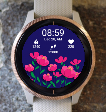 Garmin Watch Face - Magic Heart Flower G