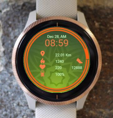 Garmin Watch Face - Green Mandala