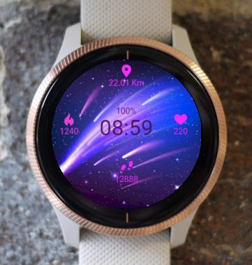Garmin Watch Face - Blue e Pink