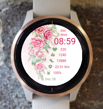 Garmin Watch Face - Rose