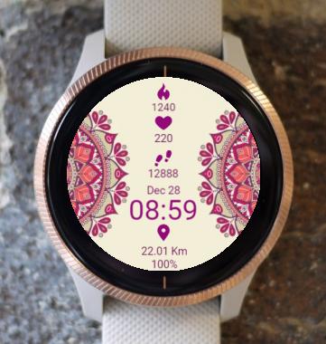 Garmin Watch Face - Mandala Roz