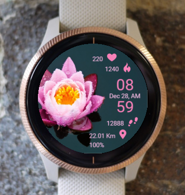Garmin Watch Face - Ga Lotus