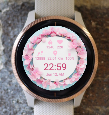 Garmin Watch Face - Pure Flowers G