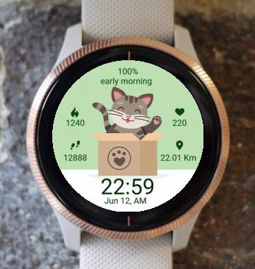 Garmin Watch Face - Kitty cat 08