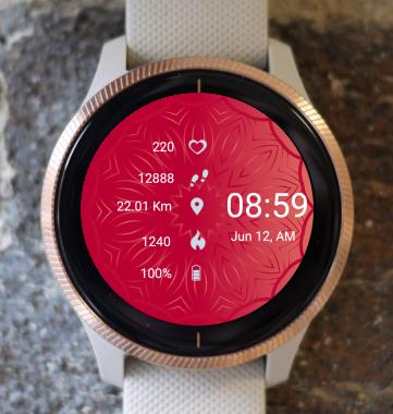 Garmin Watch Face - Mandala C12