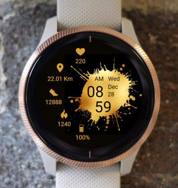 Garmin Watch Face - Golden Art