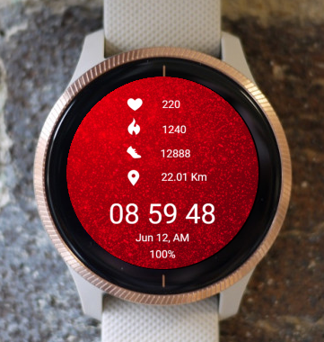 Garmin Watch Face - Red Snow