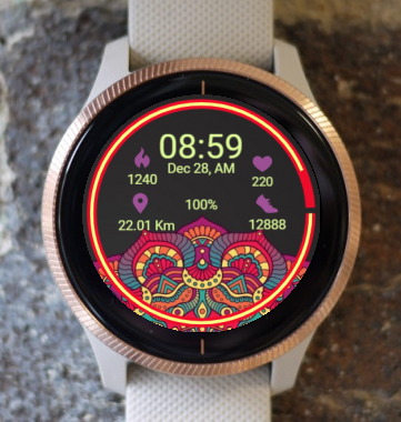 Garmin Watch Face - Mandala Roz 6