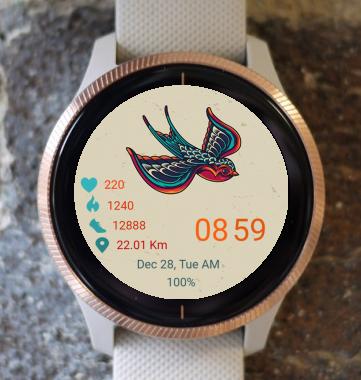 Garmin Watch Face - Bird 08