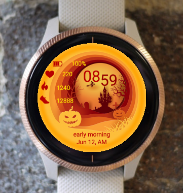 Garmin Watch Face - Halloween TA
