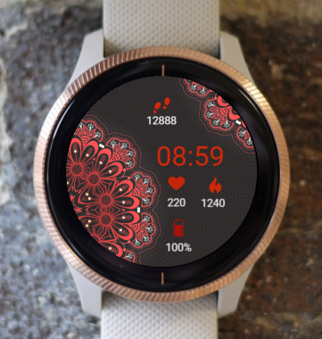 Garmin Watch Face - In Red