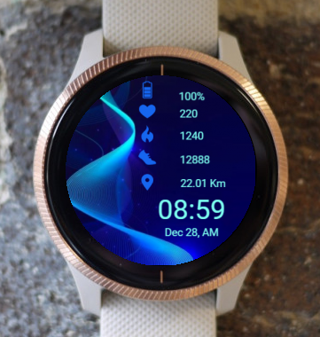 Garmin Watch Face - Acoustic Wave x