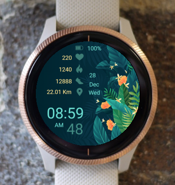 Garmin Watch Face - Tropical