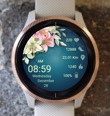 Garmin Watch Face - Lilies
