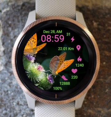 Garmin Watch Face - Butterflies At Work