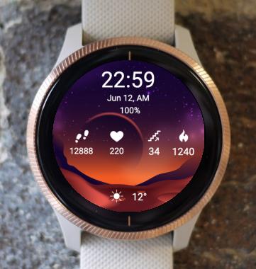 Garmin Watch Face - Mars