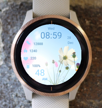 Garmin Watch Face - Spring Flowers