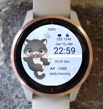 Garmin Watch Face - Kitty cat 02