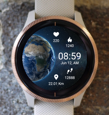 Garmin Watch Face - Planet Earth