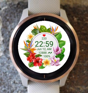 Garmin Watch Face - Flower Fair 17