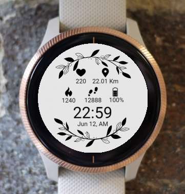Garmin Watch Face - Black Leaf G