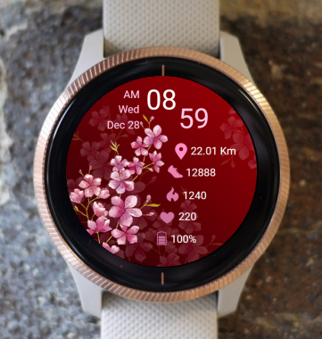 Garmin Watch Face - Blooming Flowers