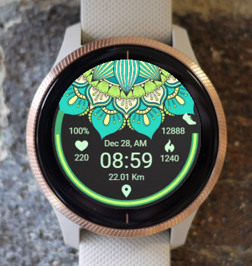 Garmin Watch Face - Ga Mandala 1