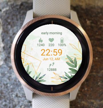 Garmin Watch Face - Golden Leaves G