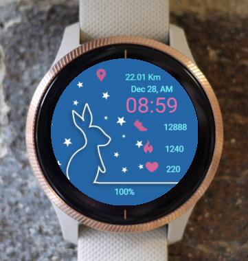 Garmin Watch Face - Line Bunny
