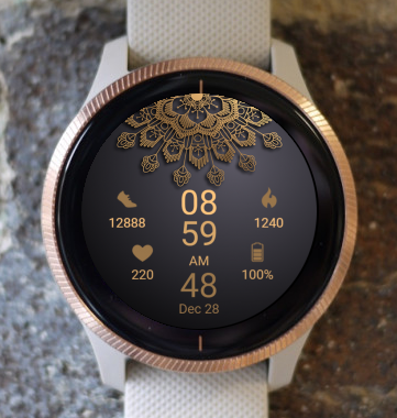 Garmin Watch Face - Mandala G5